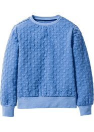 Sweatshirt mit Herzchenmuster, bpc bonprix collection, himmelblau