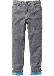 Thermohose mit warmem Flanellfutter, John Baner JEANSWEAR, grey denim