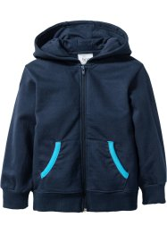 Kapuzensweatjacke, bpc bonprix collection, dunkelblau