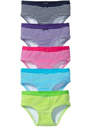 Panty (5er-Pack), bpc bonprix collection, bunt gestreift