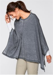 Sweat-Poncho im Used-Look, bpc bonprix collection