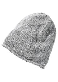 Beanie mit Pailetten, bpc bonprix collection, grau