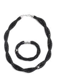 Set Collier + Armband, bpc bonprix collection, schwarz