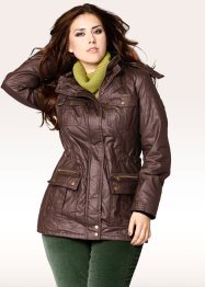 Gewachste Steppjacke mit Kapuze (bpc bonprix collection)