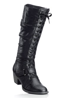 Schnürstiefel, bpc bonprix collection, schwarz