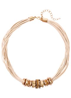 Collier, bpc bonprix collection, creme/goldfarben