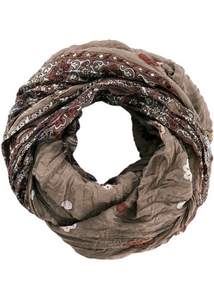 Loop-Schal mit Paisley, bpc bonprix collection, altrosa/braun
