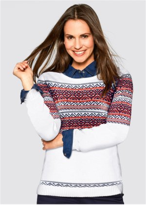 Pullover mit Jacquard Muster, bpc bonprix collection