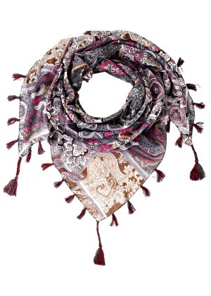 "Tuch ""Paisley"", bpc bonprix collection, grau/pink/multi"
