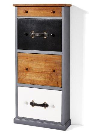 schuhschrank barry 3 klappen grau natur bpc living online kaufen. Black Bedroom Furniture Sets. Home Design Ideas