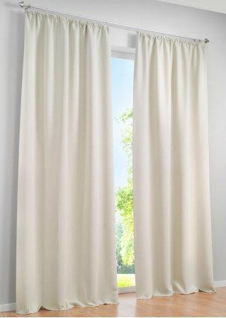 licht und sichtschutz am tag und in der nacht mit dem vorhang verdunkelung creme 1er pack. Black Bedroom Furniture Sets. Home Design Ideas