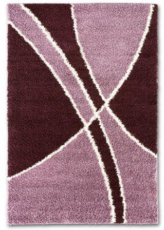 modischer teppich guni mit flauschigem flor beere. Black Bedroom Furniture Sets. Home Design Ideas