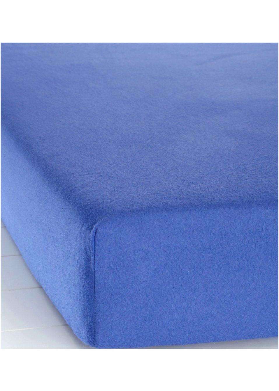 Drap housse flanelle bleu bpc living for Draps housse flanelle
