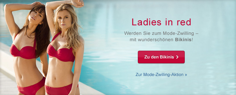 Ladies in red - Zu den Bikinis