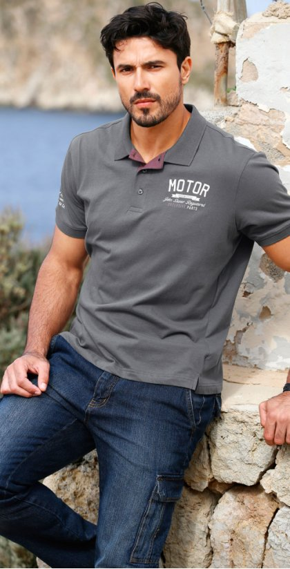 Herren - Poloshirt in Regular Fit - anthrazit