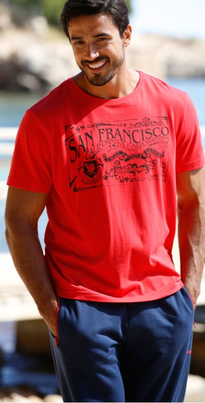 Homme - T-shirt Regular Fit - rouge