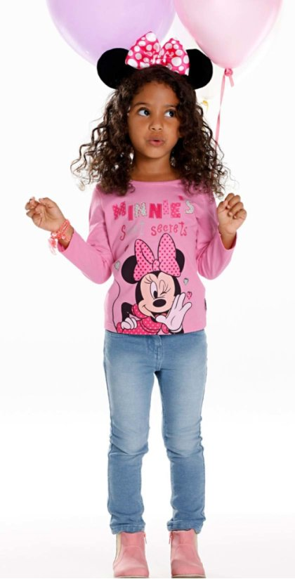 Enfant - T-shirt manches longues MINNIE - rose MINNIE