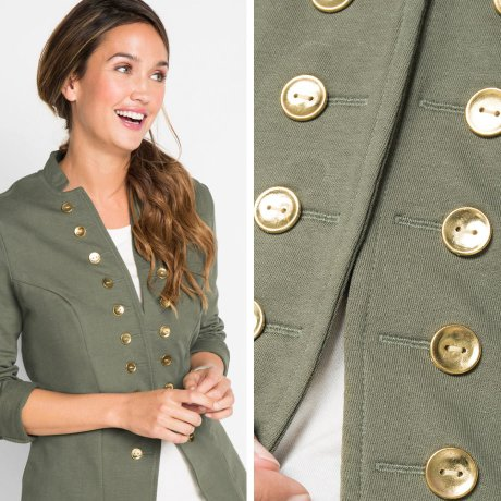 Femme - Blazer sweat, manches longues - designed by Maite Kelly - olive
