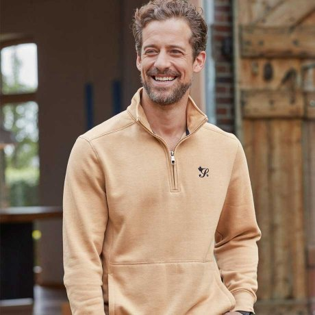 Homme - Sweat-shirt - beige chiné