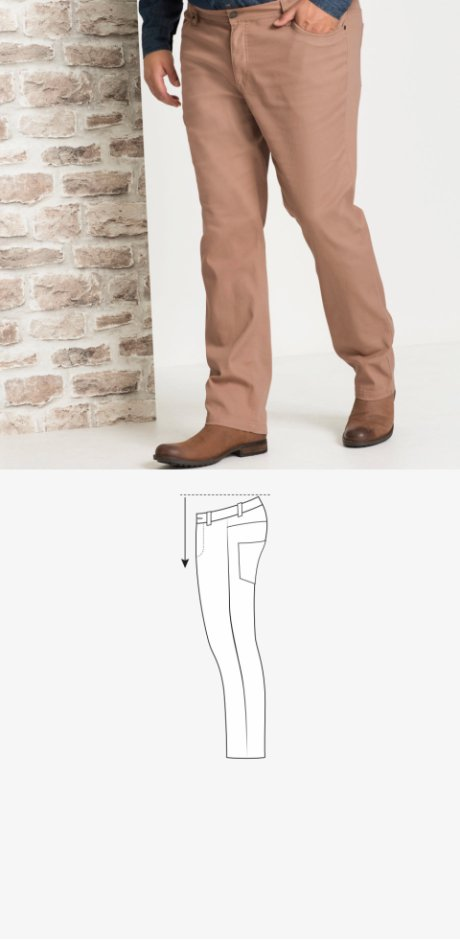 Homme - Pantalon extensible de coupe spéciale ventre Regular Fit - camel
