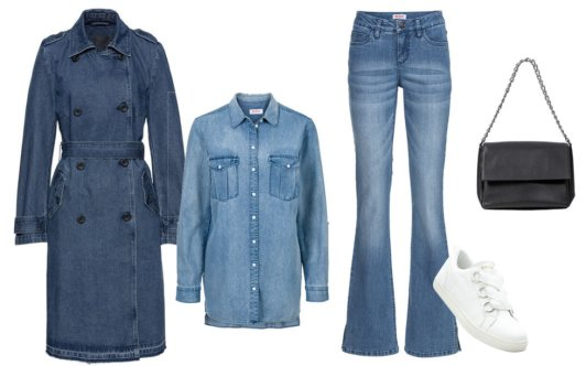 Stories - Jeans-Trenchcoat - blue stone