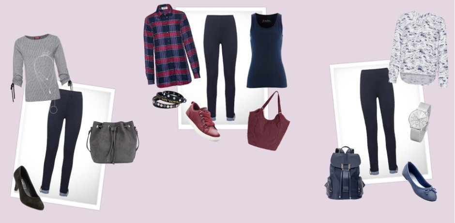 Damen - Mode - Shoppen nach Outfits - Ein Style - drei Looks