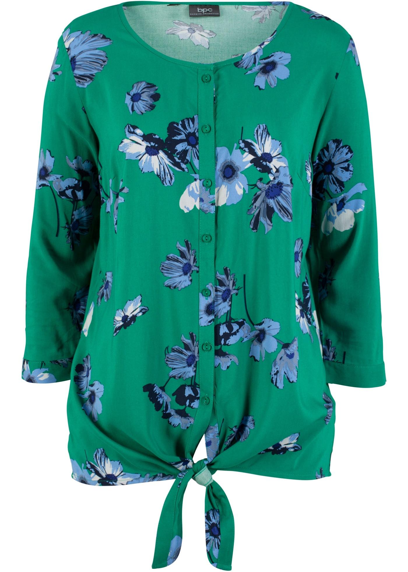 Image of 3/4-Arm Bluse mit Blumendruck
