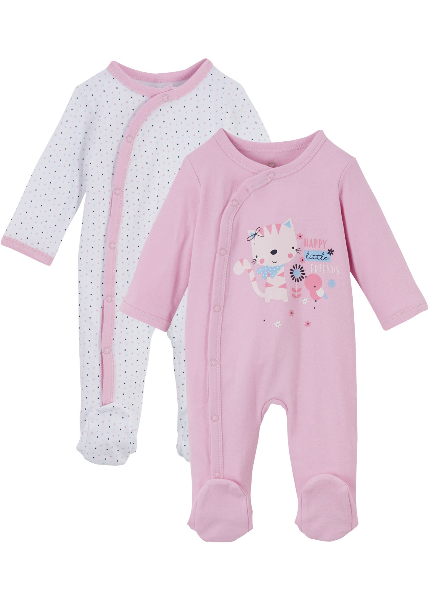 Image of Baby Strampler (2er-Pack) Bio Baumwolle