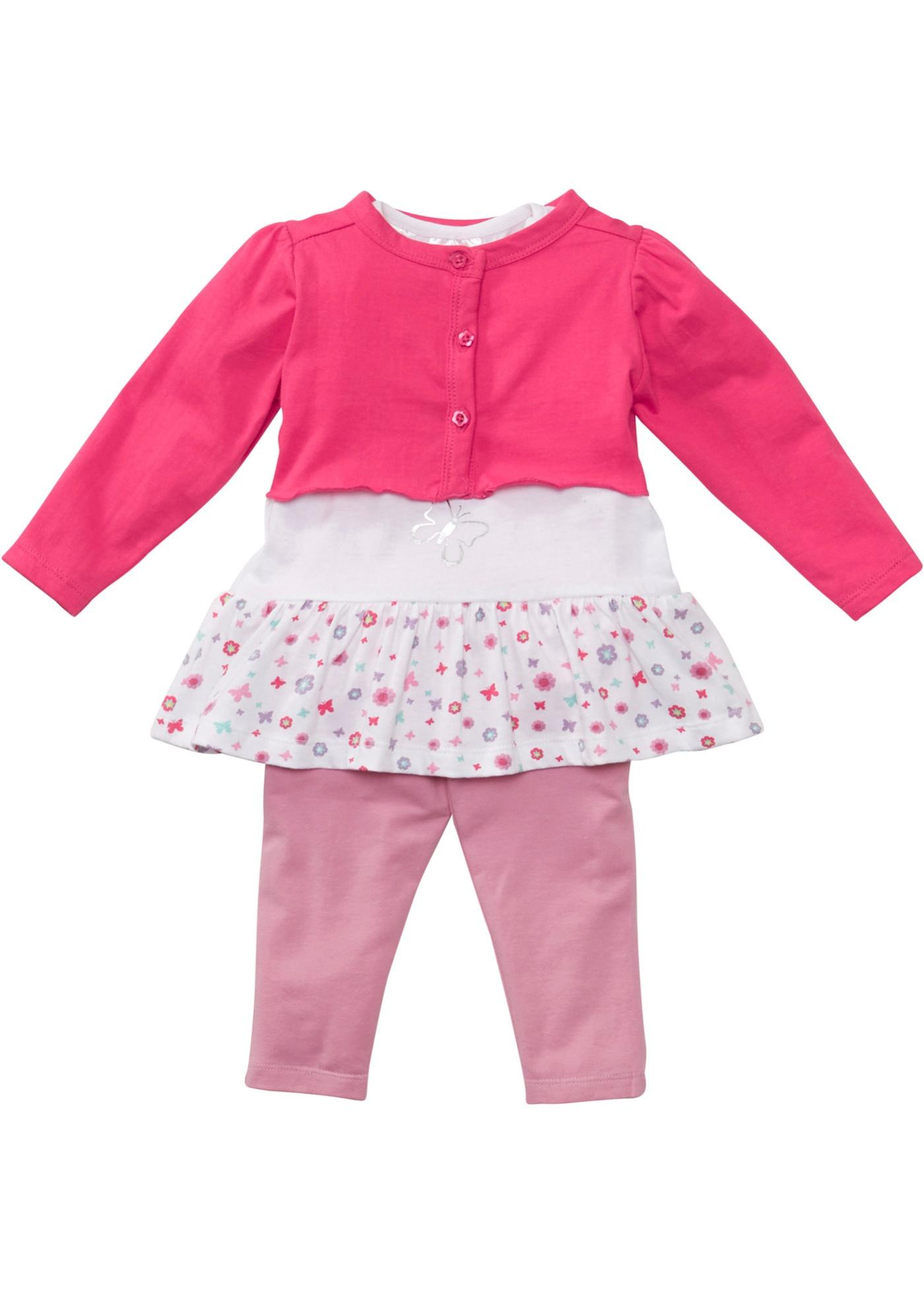 Image of Baby Bolero + T-Shirt + Leggings (3-tlg.) Bio-Baumwolle