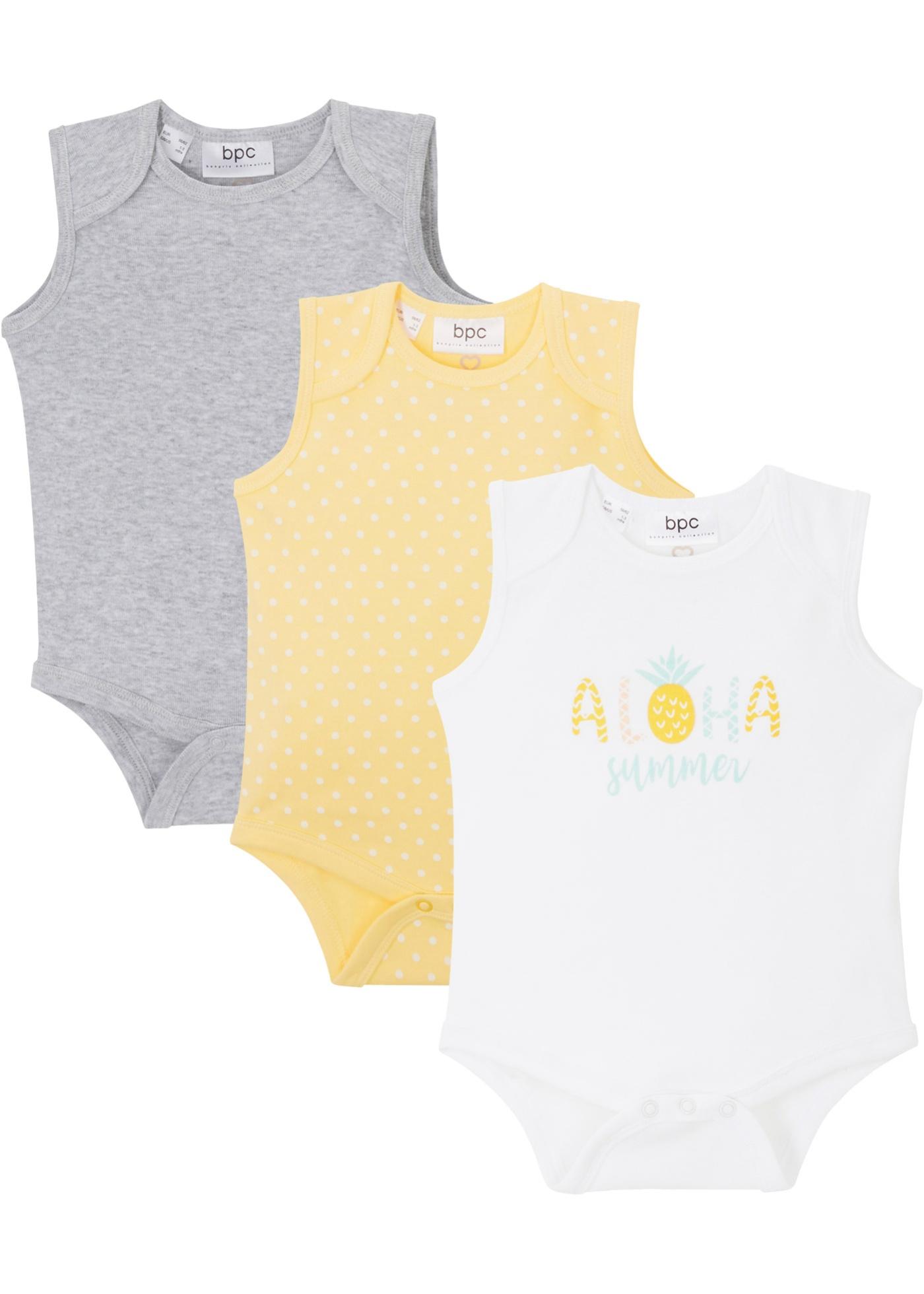Image of Baby Body ohne Arm (3er Pack) Bio Baumwolle