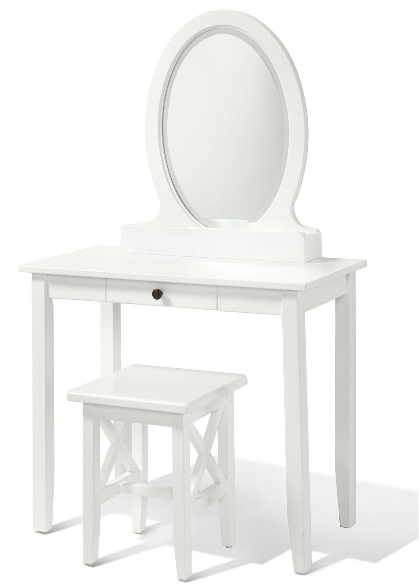 Image of Schminktisch mit ovalem Spiegel