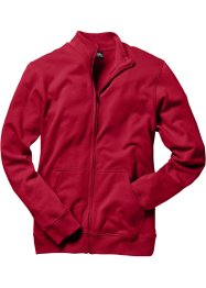 Sweatjacke, Regular Fit, bpc bonprix collection, dunkelrot