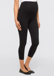 3/4-Umstandsleggings (2er-Pack), bpc bonprix collection, schwarz/grau meliert