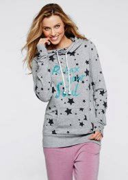 Leichtes Sweatshirt mit Sternendruck, bpc bonprix collection, hellgrau meliert