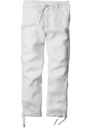 Leinenhose Regular Fit Straight, bpc bonprix collection, weiss
