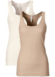 2er-Pack Ripp-Tanktop, RAINBOW, nude/wollweiss