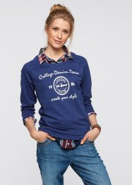 Sweatshirt mit 2-in-1-Optik, John Baner JEANSWEAR, blau