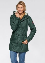 Outdoor-Langjacke mit Teddyfleece, bpc bonprix collection, schiefergrau