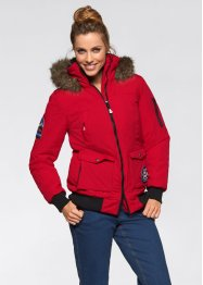 Funktions-Outdoorjacke mit Kapuze, bpc bonprix collection, rot