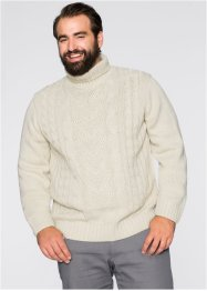 Rollkragenpullover, Slim Fit, bpc bonprix collection, natur