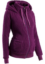 Umstandsjacke aus Teddy-Fleece, bpc bonprix collection, veilchenlila