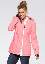 Softshell-Jacke mit Kapuze, bpc bonprix collection, neonlachs