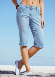 Capri-Stretch-Jeans, bpc bonprix collection, lightblue bleached