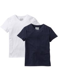Lot de 2 T-shirts Slim Fit, RAINBOW, bleu foncé + blanc