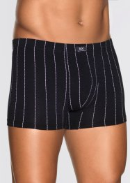 Boxer (3er-Pack), bpc bonprix collection, schwarz/weiss gestreift