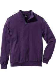 Herren Sweatshirt, Regular Fit, bpc bonprix collection, dunkellila