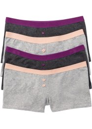 Damen Boxer (4er-Pack), bpc selection, grau meliert