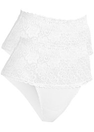 Lot de 2 slips modelants, bpc bonprix collection, blanc