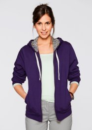 Sweatjacke mit Kapuze, bpc bonprix collection, grau meliert