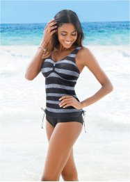 Tankini (2-tlg. Set), bpc bonprix collection, schwarz/grau gestreift